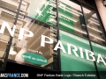 BNP Paribas Bank Logo Branch Exterior